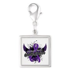 Alzheimer's Awareness 16 Silver Square Charm