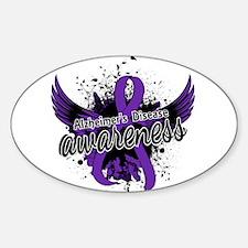 Alzheimer's Awareness 16 Sticker (Oval)