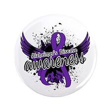 """Alzheimer's Awareness 16 3.5"""" Button (100 pack)"""