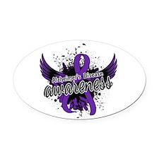 Alzheimer's Awareness 16 Oval Car Magnet