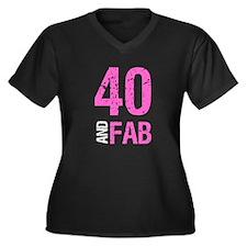 Fabulous 40th Birthday Plus Size T-Shirt