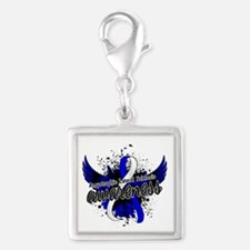 ALS Awareness 16 Silver Square Charm