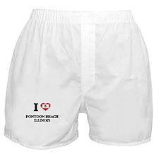 I love Pontoon Beach Illinois Boxer Shorts