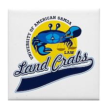 Land Crabs Law Tile Coaster