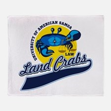 Land Crabs Law Throw Blanket