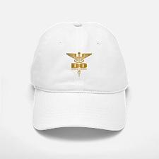 Gold Caduceus (DO) Baseball Baseball Baseball Cap