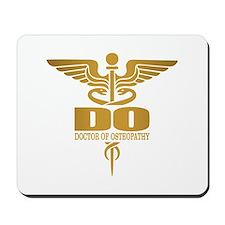 Gold Caduceus (DO) Mousepad