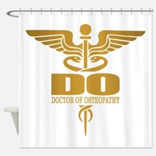 Gold Caduceus (DO) Shower Curtain