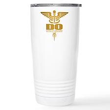Gold Caduceus (DO) Travel Mug