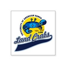 Land Crabs Law Sticker