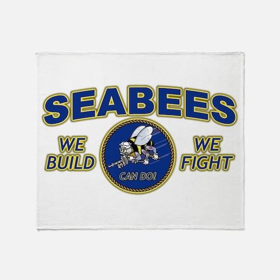 Cute Seabee Throw Blanket