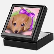 ByCatiaCho Petal Doxie Keepsake Box