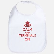 Keep Calm and Terminals ON Bib