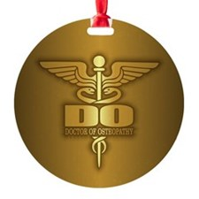 Gold Caduceus (DO) Ornament