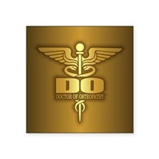Gold Caduceus (DO) Sticker