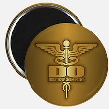 Gold Caduceus (DO) Magnets