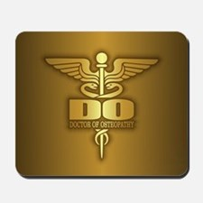 Gold Caduceus (DO) Mousepad