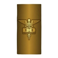 Gold Caduceus (DO) Beach Towel