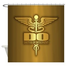 Gold Caduceus (DO) Shower Curtain