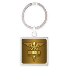 Gold Caduceus (DO) Keychains