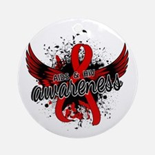 AIDS & HIV Awareness 16 Ornament (Round)