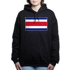 Costa Rica Flag Women's Hooded Sweatshirt