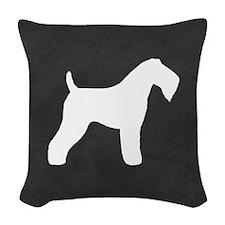 Kerry Blue Terrier Woven Throw Pillow