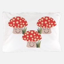 Forest Mushrooms Pillow Case