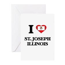 I love St. Joseph Illinois Greeting Cards