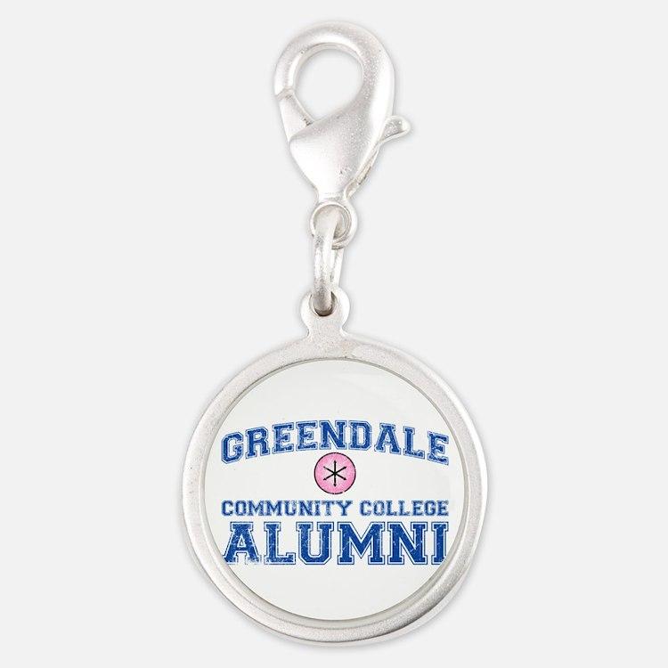 Greendale Alumni Silver Round Charm