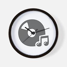 music p 36-Mus gray Wall Clock