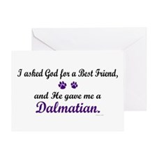 God Gave Me A Dalmatian Greeting Card