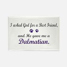 God Gave Me A Dalmatian Rectangle Magnet