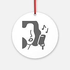 music p 53-Mus gray Ornament (Round)