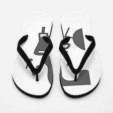 music p 53-Mus gray Flip Flops