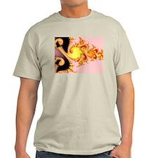 """""""Golden Dragon"""" Fractal Art T-Shirt"""