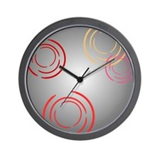 Warm Circle Fragments Wall Clock