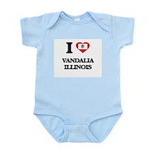 I love Vandalia Illinois Body Suit