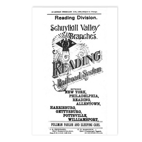 Reading Railroad System 1894 Postcards (Package of