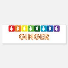 Lesbian Ginger Bumper Bumper Bumper Sticker