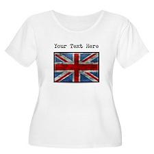 Dirty United Kingdom Flag (Custom) Plus Size T-Shi
