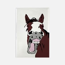Cartoon Horse Laughing Funny Equestrian Magnets
