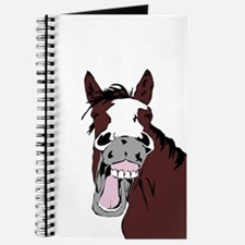 Cartoon Horse Laughing Funny Equestrian Art Journa
