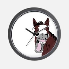 Cartoon Horse Laughing Funny Equestrian Art Wall C