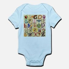 Harvest Moons Baby's Alphabet Body Suit