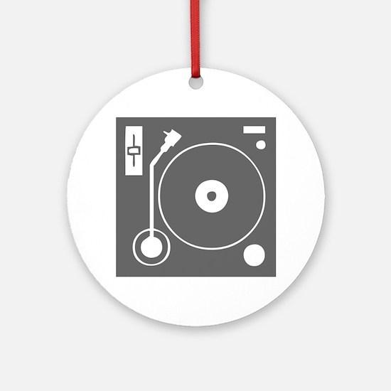 music p 73-Mus gray Ornament (Round)