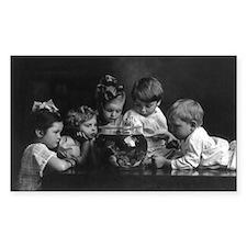 GOLDFISH BOWL cute kids photo print vinyl sticker