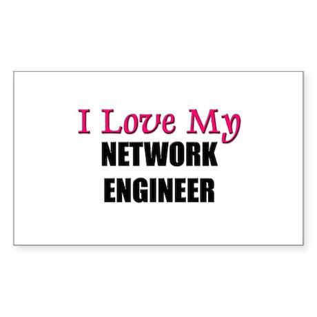 I Love My NETWORK ENGINEER Rectangle Sticker