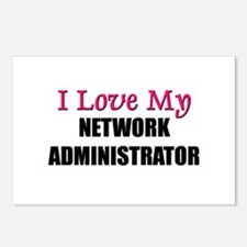 I Love My NETWORK ADMINISTRATOR Postcards (Package