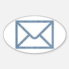 Vintage Email Oval Decal